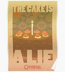 Portal Propaganda Poster - Cake Poster