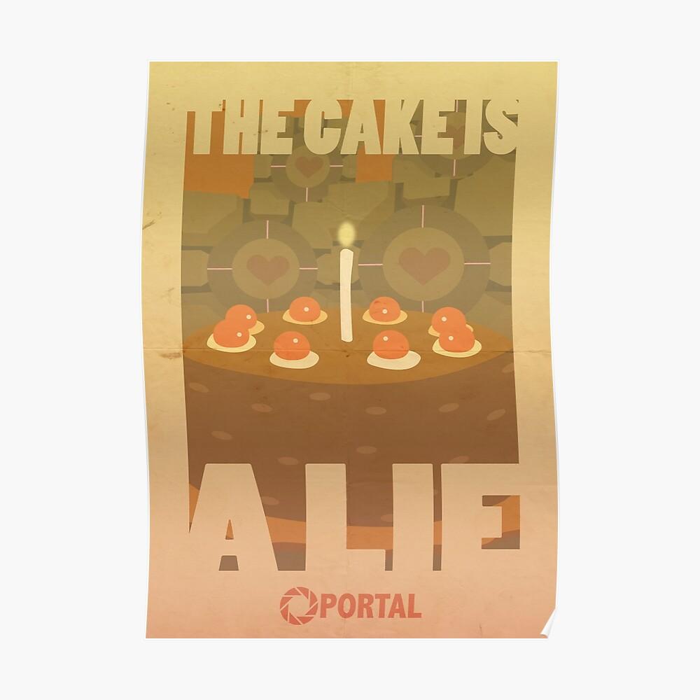 Portal Propaganda Poster - Kuchen Poster