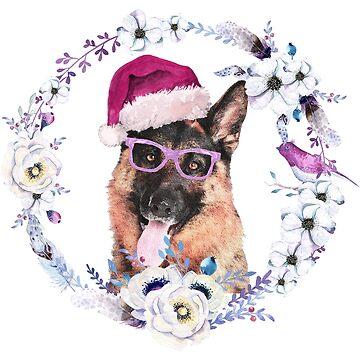 Santa German Shepherd Dog by LemoBoy