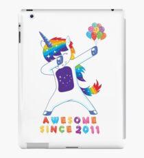 Kids Awesome Since 2011 8th Birthday Kids Unicorn T-Shirt iPad Case/Skin