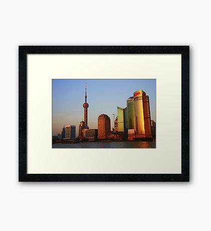 Cityscape Series - Shanghai Framed Print