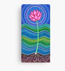 Lotus Growing Canvas Print