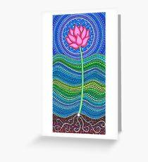 Lotus Growing Grußkarte