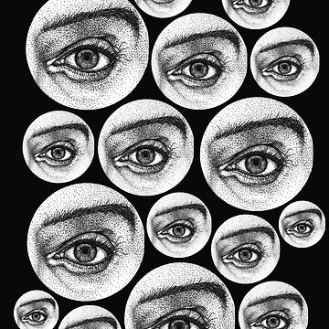 Realistic black and white Eye Bubbles by Surrealist1
