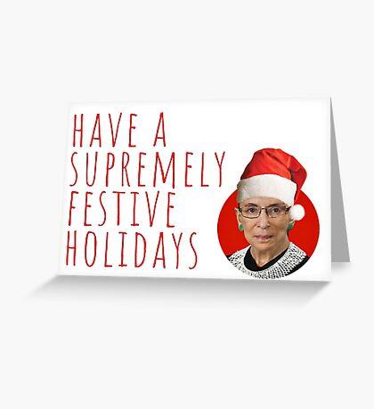 Ruth Bader Ginsburg, RBG Navidad, Regalos, Regalos, Cotizaciones, Feminista, Activista, Navidad, Fresco, Lindo, Felicidad, Festiva, Felices Fiestas Tarjeta de felicitación