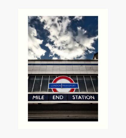 Mile End Tube Station Art Print