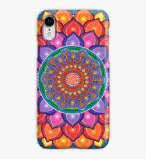Lotus Rainbow Mandala iPhone XR Case