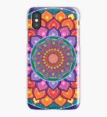 Lotus Rainbow Mandala iPhone Case