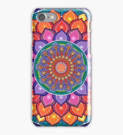 Lotus Rainbow Mandala Coque et skin iPhone