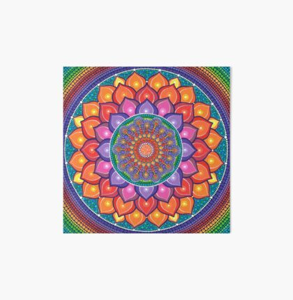 Lotus Rainbow Mandala Art Board