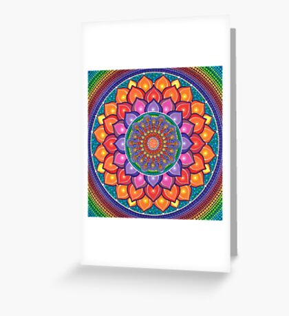 Lotus Rainbow Mandala Carte de vœux