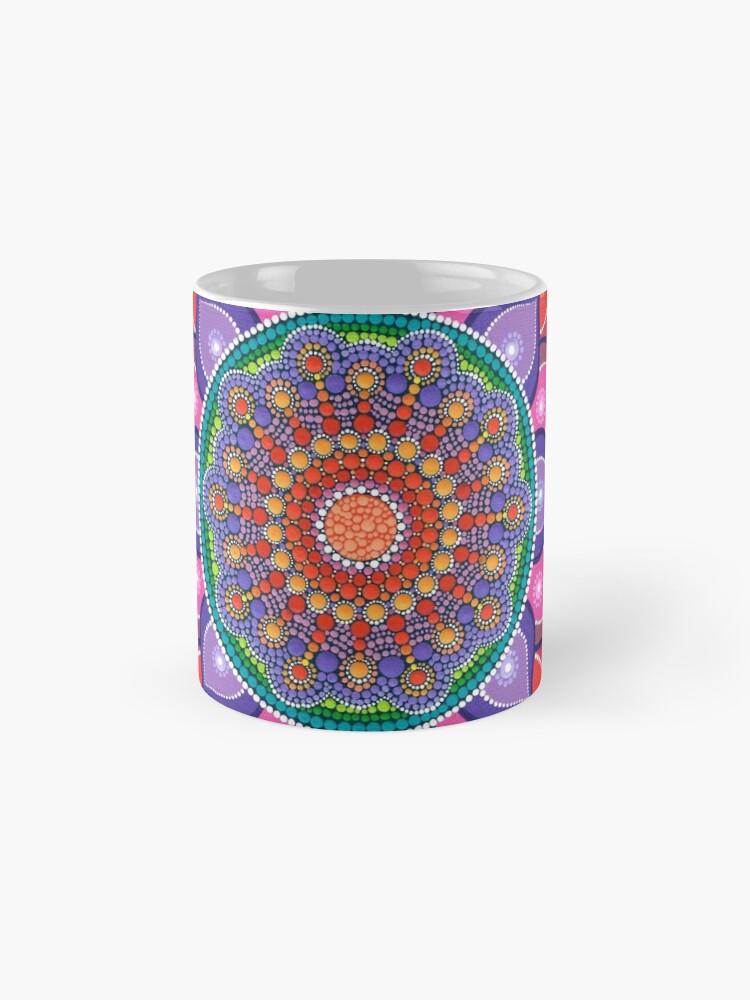 Alternate view of Lotus Rainbow Mandala Mug