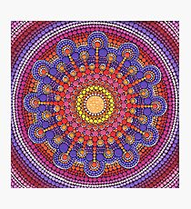 Jewel Drop Mandala Photographic Print