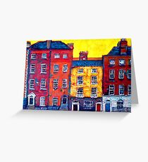 5 Houses, Dublin Greeting Card