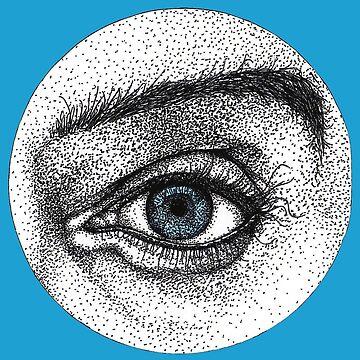 Realistic Blue Eyes by Surrealist1