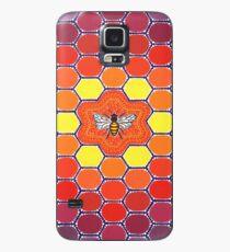 Bee Sacred Geometry Hülle & Klebefolie für Samsung Galaxy