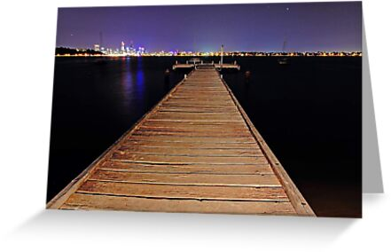 Pelican Point Jetty At Night  by EOS20