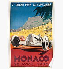 Monaco Grand Prix 1935 Poster