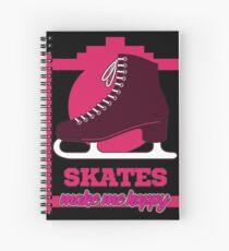 Skating makes you happy Spiral Notebook