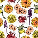 Floral pattern by Shyned Maritan