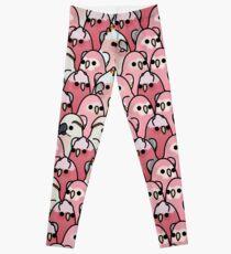 Too Many Birds! - Pink Parrot Posse! Leggings