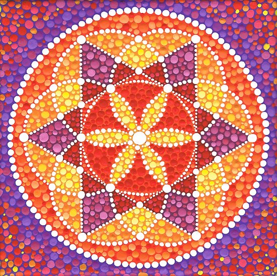 Quot Sacred Geometry Star Flower Quot Posters By Elspeth Mclean