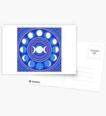 Moon Cycle Mandala Postkarten