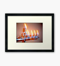 Hanukkah Candles Glow Framed Print