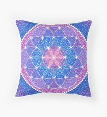 Starry Flower of Life Throw Pillow