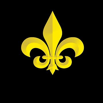 New Orleans Gold and Black Fleur De Lis by TeeCreations