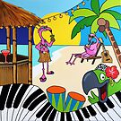 Flamingo Beach, Good vibes only by Mirjam Griffioen