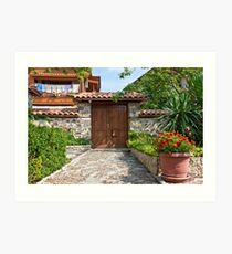 Sozopol Backyard Art Print