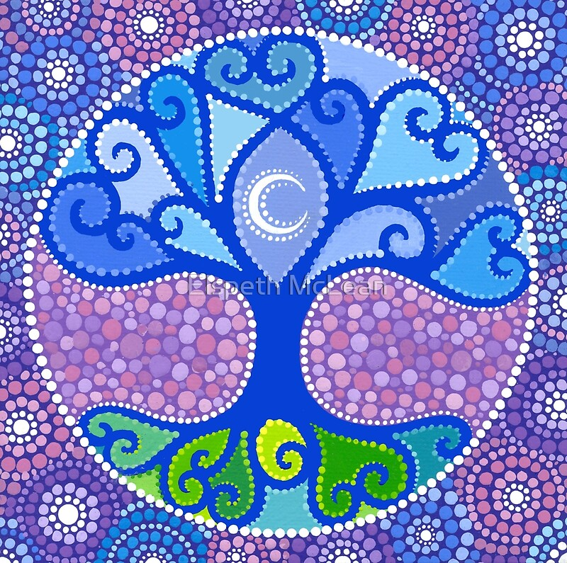 Quot Moon Tree Mandala Quot By Elspeth Mclean Redbubble
