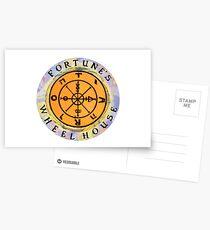 Fortune's Wheelhouse logo on white Postcards