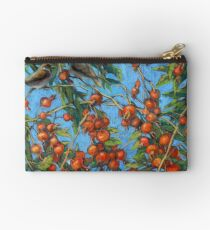 Sparrow Among In a Dog Rose Bush Studio Pouch