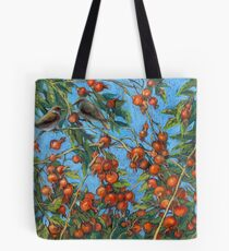 Sparrow Among In a Dog Rose Bush Tote Bag