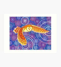 Owl Pulsating Magic Art Print