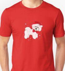 Bichon Frise Santa Hat Unisex T-Shirt