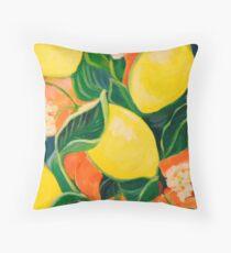 Luscious Lemons Throw Pillow