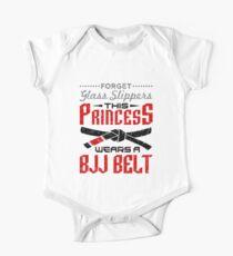 Jiu Jitsu Girl Gifts - Vergessen Sie Glas Hausschuhe BJJ Gürtel Baby Body Kurzarm