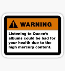 Queen band Albums Warning sign Sticker