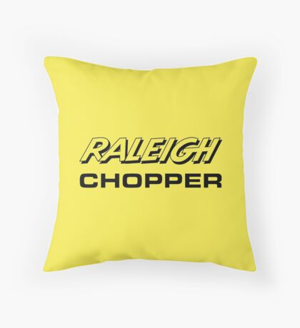 Raleigh Chopper old style logo (as seen above the rear reflector) Throw Pillow