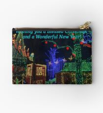 Christmas In Midtown Greetings Zipper Pouch