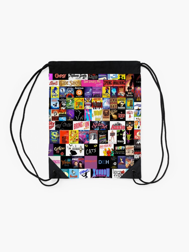 Alternate view of MUSICALS! (Duvet, Clothing, Book, Pillow, Sticker, Case, Mug etc)  Drawstring Bag
