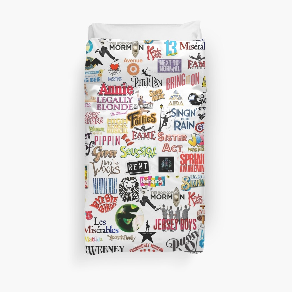 Musical Logos (Cases, Duvets, Books, Clothes etc) Duvet Cover