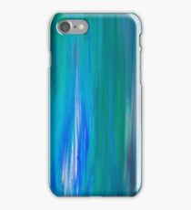 IRRADIATED BLUE Colorful Fine Art Indigo Teal Turquoise Modern Abstract Acrylic Painting iPhone Case/Skin