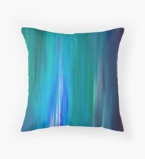 Cojín IRRADIATED BLUE Colorful Fine Art Indigo Teal Turquoise Modern Abstract Acrylic Painting
