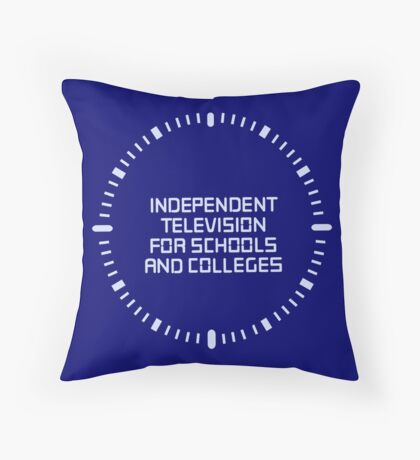 Independent television programmes for schools and colleges clock Throw Pillow