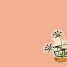 Wooden Bowl of Flowers | MCM by CheriesArt