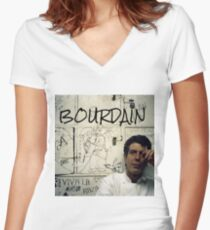 Thank you, Anthony Bourdain  Women's Fitted V-Neck T-Shirt